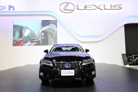 lexus: NONTHABURI - NOVEMBER 28: Lexus GS 300h car on display at The 30th Thailand International Motor Expo on November 28, 2013 in Nonthaburi, Thailand.