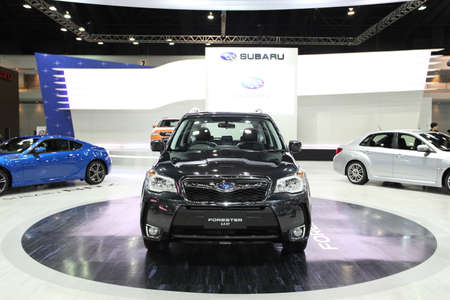 forester: NONTHABURI - NOVEMBER 28: Subaru Forester 2.0 car on display at The 30th Thailand International Motor Expo on November 28, 2013 in Nonthaburi, Thailand.  Editorial