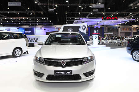 NONTHABURI - NOVEMBER 28: Proton Preve car on display at The 30th Thailand International Motor Expo on November 28, 2013 in Nonthaburi, Thailand.
