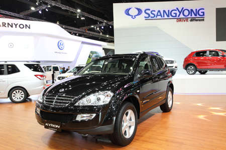 NONTHABURI - March 25: Ssangyong  Kyron car on display at The 35th Bangkok International Motor Show on March 25, 2014 in Nonthaburi, Thailand.