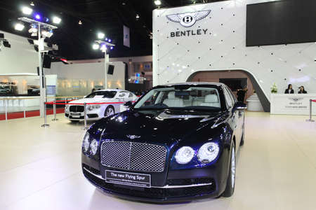 NONTHABURI - March 25: Bentley The New Flying Spur car on display at The 35th Bangkok International Motor Show on March 25, 2014 in Nonthaburi, Thailand.