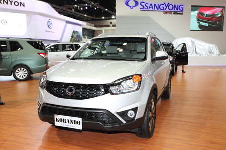 NONTHABURI - March 25: Ssangyong  KORANDO car on display at The 35th Bangkok International Motor Show on March 25, 2014 in Nonthaburi, Thailand.