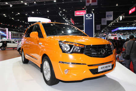NONTHABURI - March 25: Ssangyong  Stavic car on display at The 35th Bangkok International Motor Show on March 25, 2014 in Nonthaburi, Thailand.