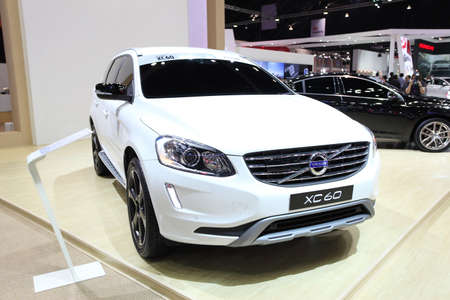 NONTHABURI - March 25: Volvo XC60 car on display at The 35th Bangkok International Motor Show on March 25, 2014 in Nonthaburi, Thailand.