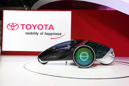NONTHABURI - March 25: Toyota FV2 car on display at The 35th Bangkok International Motor Show on March 25, 2014 in Nonthaburi, Thailand.