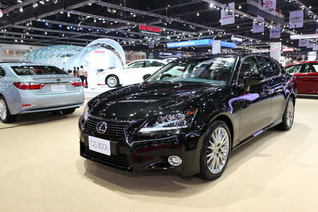 NONTHABURI - March 25: Lexus GS 300h car on display at The 35th Bangkok International Motor Show on March 25, 2014 in Nonthaburi, Thailand.