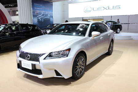 NONTHABURI - March 25: Lexus GS 250 car on display at The 35th Bangkok International Motor Show on March 25, 2014 in Nonthaburi, Thailand.