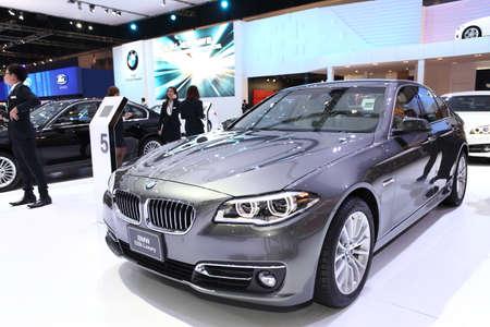 NONTHABURI - March 25: BMW 528i Luxury car on display at The 35th Bangkok International Motor Show on March 25, 2014 in Nonthaburi, Thailand.