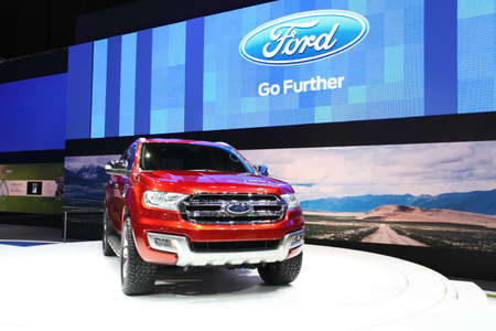 NONTHABURI - March 25: Ford Ranger car on display at The 35th Bangkok International Motor Show on March 25, 2014 in Nonthaburi, Thailand.