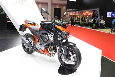 BANGKOK - MARCH 25 :Kawasaki Z800 Motorcycle on display at The 35th Bangkok International Motor Show 2014 on March 25, 2014 in Bangkok, Thailand.
