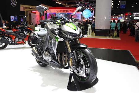 BANGKOK - MARCH 25 :Kawasaki Z1000 Motorcycle on display at The 35th Bangkok International Motor Show 2014 on March 25, 2014 in Bangkok, Thailand.