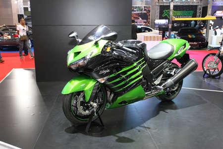 BANGKOK - MARCH 25 : Kawasaki Ninja ZX-14R Motorcycle on display at The 35th Bangkok International Motor Show 2014 on March 25, 2014 in Bangkok, Thailand.