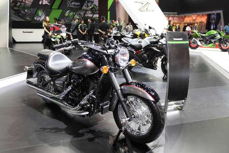 BANGKOK - MARCH 25 : Kawasaki Valcan Classic Motorcycle on display at The 35th Bangkok International Motor Show 2014 on March 25, 2014 in Bangkok, Thailand.