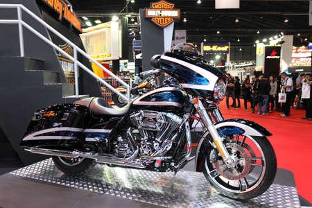 BANGKOK - MARCH 25 : Harley Davidson Touring Motorcycle on display at The 35th Bangkok International Motor Show 2014 on March 25, 2014 in Bangkok, Thailand.