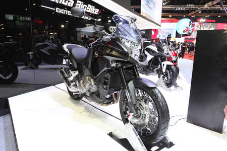 BANGKOK - MARCH 25 : Honda BigBike Cross Tourer Motorcycle on display at The 35th Bangkok International Motor Show 2014 on March 25, 2014 in Bangkok, Thailand.