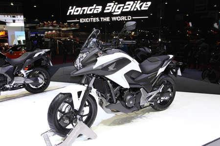 BANGKOK - MARCH 25 : Honda BigBike NC750X Motorcycle on display at The 35th Bangkok International Motor Show 2014 on March 25, 2014 in Bangkok, Thailand.