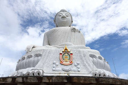 marmorate:  The marble statue of Big Buddha over blue sky