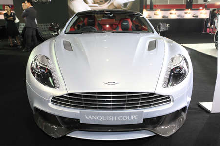 BANGKOK - August 19: Aston Martin Vanquish Coupe car on display at Big Motor sale on August, 2014 in Bangkok, Thailand.  Editorial