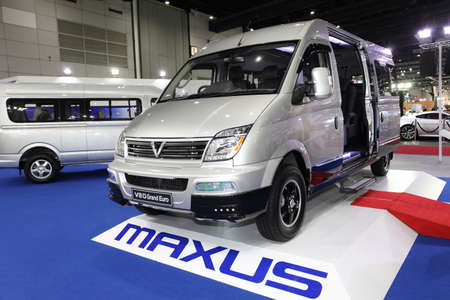 BANGKOK - August 19: Maxus V80 Grand Euro car on display at Big Motor sale on August, 2014 in Bangkok, Thailand.