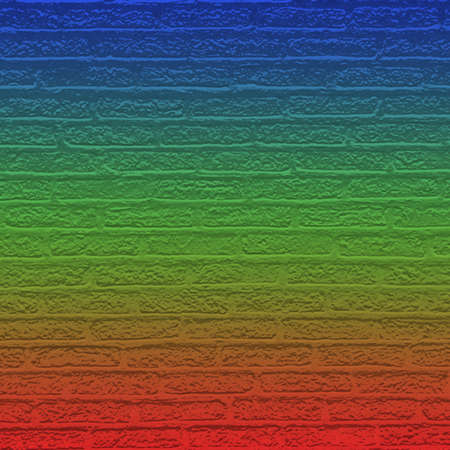 Color brick wall with gradient photo