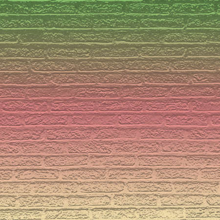 Color brick wall with gradient