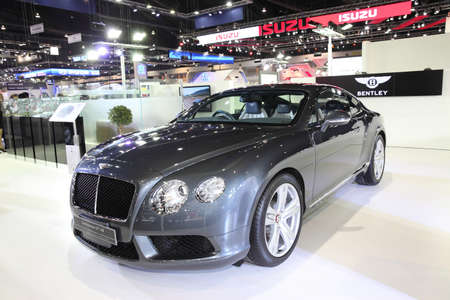 BANGKOK - November 28: Bentley Continental GT V8 car on display at The Motor Expo 2014 on November 28, 2014 in Bangkok, Thailand.
