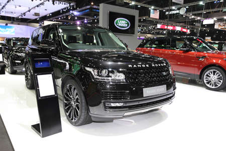 BANGKOK - November 28: Range Rover car on display at The Motor Expo 2014 on November 28, 2014 in Bangkok, Thailand.