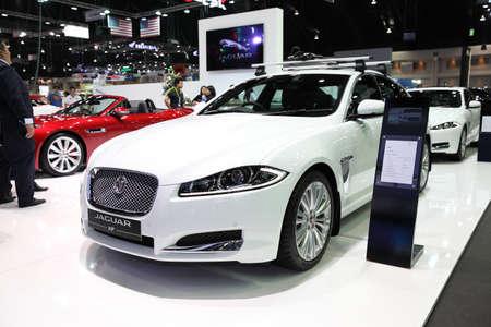 fx: BANGKOK - November 28:Jaguar FX car on display at The Motor Expo 2014 on November 28, 2014 in Bangkok, Thailand.