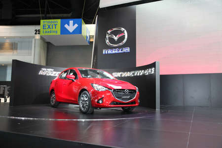 BANGKOK - November 28: Mazda2 car on display at The Motor Expo 2014 on November 28, 2014 in Bangkok, Thailand.