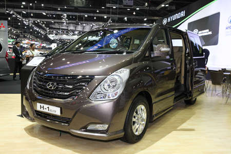BANGKOK - November 28: Hyundai H-1 Elite  car on display at The Motor Expo 2014 on November 28, 2014 in Bangkok, Thailand.