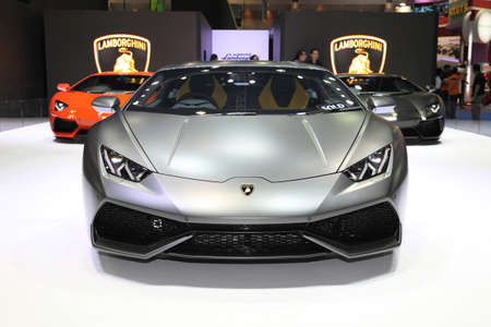lamborghini: BANGKOK - MARCH 24: Lamborghini car on display at The 36 th Bangkok International Motor Show on March 24, 2015 in Bangkok, Thailand.
