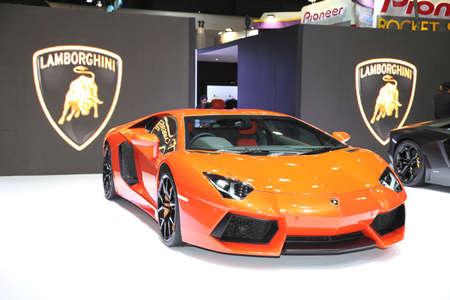 BANGKOK - MARCH 24: Lamborghini car on display at The 36 th Bangkok International Motor Show on March 24, 2015 in Bangkok, Thailand.
