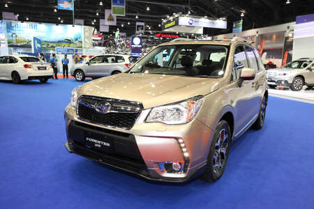 forester: BANGKOK - MARCH 24: Subaru Forester car on display at The 36 th Bangkok International Motor Show on March 24, 2015 in Bangkok, Thailand. Editorial