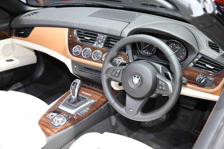 BANGKOK - MARCH 24: Console of BMW car at The 36 th Bangkok International Motor Show on March 24, 2015 in Bangkok, Thailand.