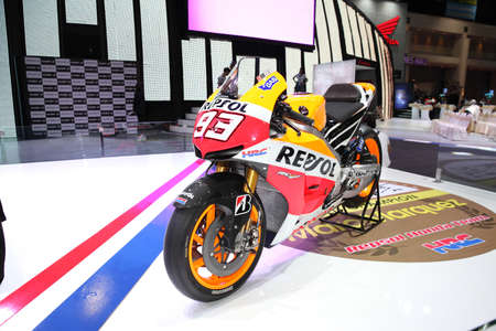 BANGKOK - MARCH 24: Honda RC 213 V motorcycle on display at The 36 th Bangkok International Motor Show on March 24, 2015 in Bangkok, Thailand.