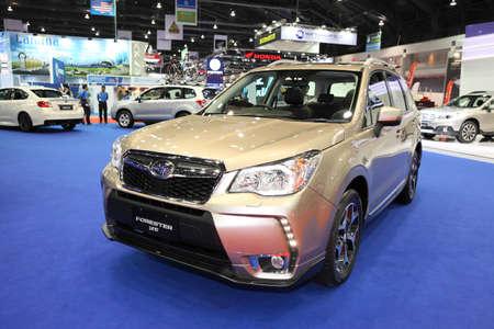 forester: BANGKOK - MARCH 24: Subaru Forester car on display at The 36 th Bangkok International Motor Show on March 24, 2015 in Bangkok, Thailand. Editorial