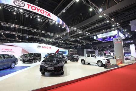 purchasers: BANGKOK - MARCH 25: Showroom of Toyota car  at The 36 th Bangkok International Motor Show on March 25, 2015 in Bangkok, Thailand.
