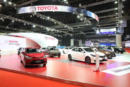 BANGKOK - MARCH 25: Showroom of Toyota car  at The 36 th Bangkok International Motor Show on March 25, 2015 in Bangkok, Thailand.