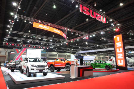 BANGKOK - MARCH 25: Showroom of Isuzu car  at The 36 th Bangkok International Motor Show on March 25, 2015 in Bangkok, Thailand.