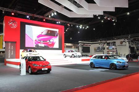 purchasers: BANGKOK - MARCH 25: Showroom of MG car  at The 36 th Bangkok International Motor Show on March 25, 2015 in Bangkok, Thailand. Editorial