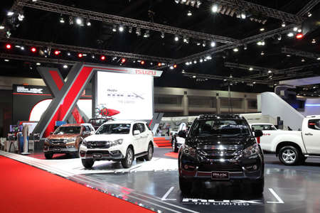 purchasers: BANGKOK - MARCH 25: Showroom of Isuzu car  at The 36 th Bangkok International Motor Show on March 25, 2015 in Bangkok, Thailand.