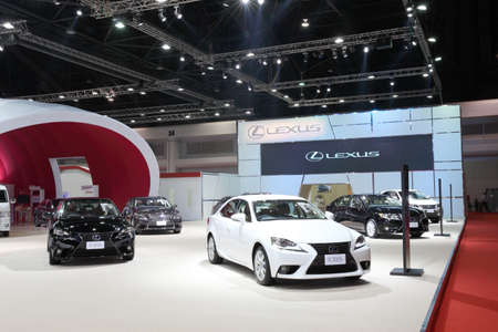 purchasers: BANGKOK - MARCH 25: Showroom of Lexus car  at The 36 th Bangkok International Motor Show on March 25, 2015 in Bangkok, Thailand.