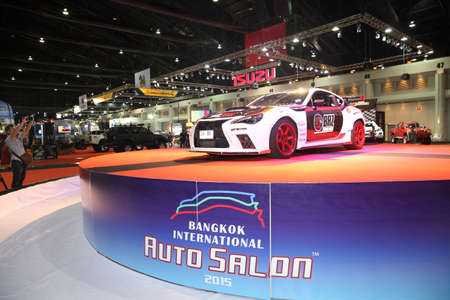 BANGKOK  June 24 : Toyota  car on display at Bangkok International Auto Salon 2015 on June 24 2015 in Bangkok Thailand.