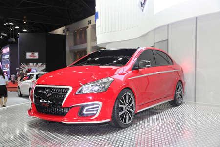 BANGKOK - June 24 : Zoom Suzuki Ciaz car on display at Bangkok International Auto Salon 2015 on June 24, 2015 in Bangkok, Thailand.