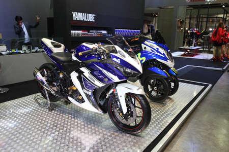 BANGKOK - June 24 :Yamaha motocycle  car on display at Bangkok International Auto Salon 2015 on June 24, 2015 in Bangkok, Thailand.