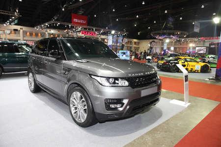 BANGKOK  June 24 : Range Rover car on display at Bangkok International Auto Salon 2015 on June 24 2015 in Bangkok Thailand. Editorial