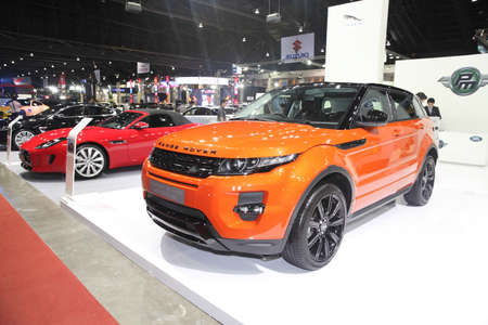 BANGKOK - June 24 : Range Rover Evoque car  on display at Bangkok International Auto Salon 2015 on June 24, 2015 in Bangkok, Thailand.