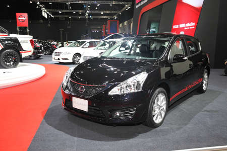 pulsar: BANGKOK - June 24 : Nissan Pulsar car on display at Bangkok International Auto Salon 2015 on June 24, 2015 in Bangkok, Thailand. Editorial