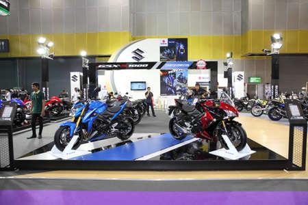 purchasers: BANGKOK - August 4: Showroom of Suzuki motorcycle at Big Motor sale on August 4, 2015 in Bangkok, Thailand.