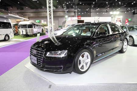 hybrid car: BANGKOK - August 4: Audi A8 L Hybrid car on display at Big Motor sale on August 4, 2015 in Bangkok, Thailand.